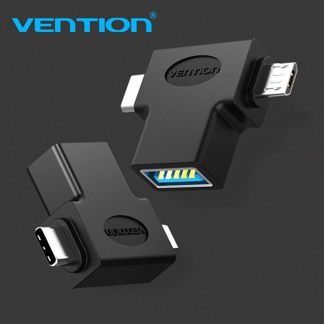 Vention Usb 3 0 Otg Cable Adapter 2 In 1 Micro Usb Adapter Type C