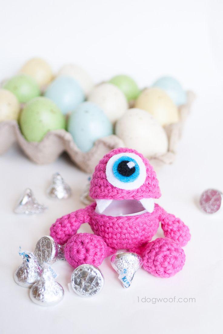 Little Monster Easter Egg Crochet Pattern | www.1dogwoof.com