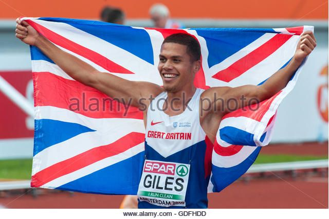 Elliot Giles of Great Britain after the men's 800m at the 2016 European Athletics Championships. Amsterdam, Netherlands. (Stock Photo)  © Richard Wareham Fotografie / Alamy Stock Photo  http://www.alamy.com  http://www.alamy.com/stock-photo-amsterdam-the-netherlands-10th-july-final-day-of-the-2016-european-111595721.html
