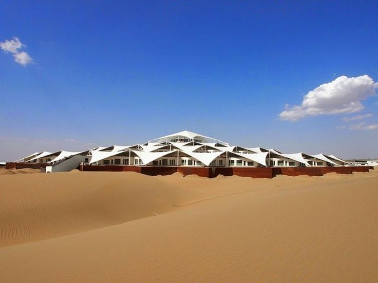 Desert Lotus Hotel Architecture in the Sand