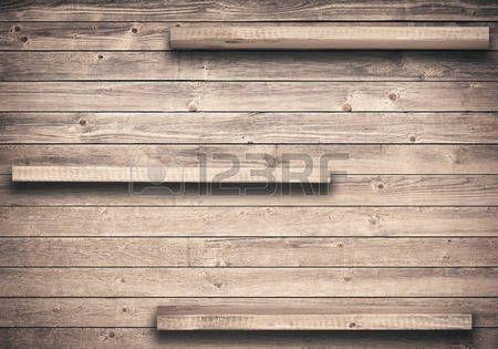keuken muur: Oude bruine lege plank op houten muur