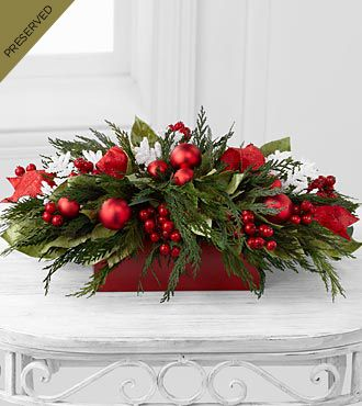 Season's Snowfall Dried & Preserved Holiday Centerpiece