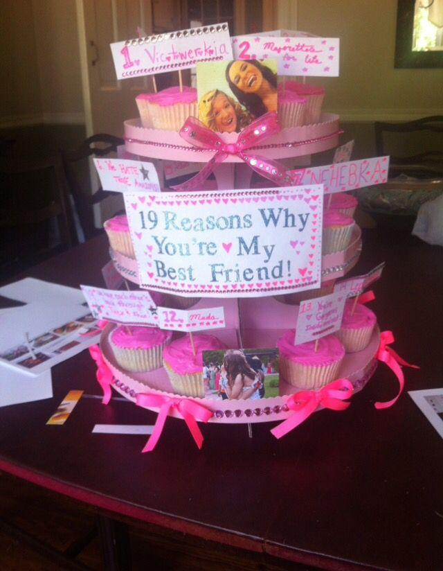Cute best friend birthday gift idea 19th birthday