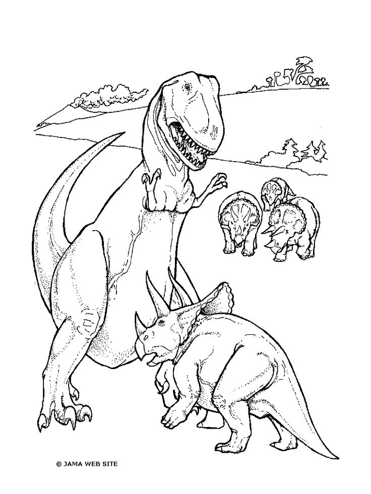 animal dinosaur coloring pages - photo#2