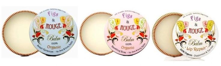 To bardzo nagradzany kosmetyk, niezwykle popularny w Wielkiej Brytanii. Produkty Figs & Rouge są ekologiczne i naturalne, certyfikowane przez Soil Association. Można ich używać do nawilżania i zmiękczania skóry twarzy i ciała, ale przede wszystkim do ochrony ust.