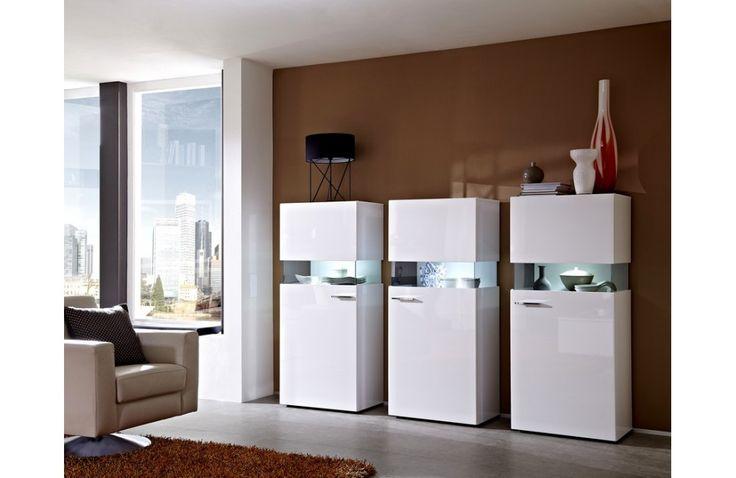 Petite vitrine blanche - Salle à manger blanche laquée - Meuble et Canapé.com