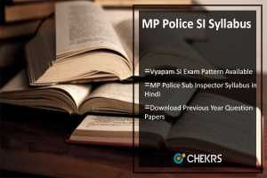 MP Police SI Syllabus 2017 Hindi Pdf, Vyapam SI Exam Pattern Available