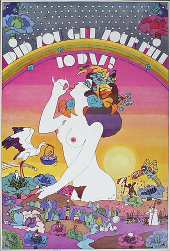 Did You Get Your Pill Today? (1970) #OtrasDemencias The psychedelic quotient is emphasised here since Nicole Claveloux has had a long career in France as an illustrator and comic artist only part of which embraces a psychedelic style.