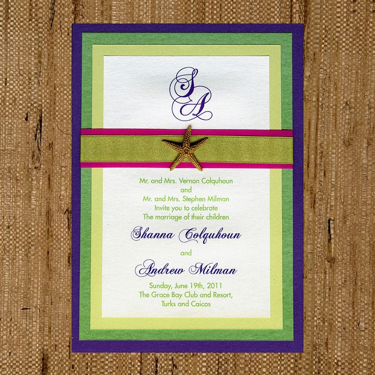 four layer wedding invitation purple green lime opal metallic paper pink - Layered Wedding Invitations