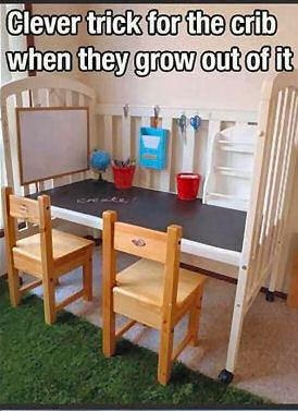 Repurposing an old Crib