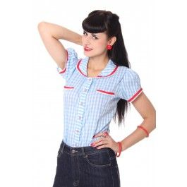 Chemisier Pin-Up Rétro 50's Rockabilly Vichy
