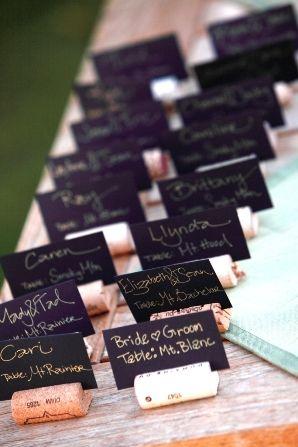 place cards on corks © Erlend Haugen Photographer