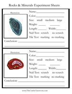 free printable rocks and minerals experiment sheet (Webelos geologist)