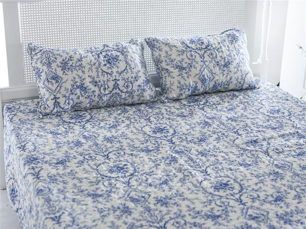 Arısta Pamuk Çift Kişilik Yatak Örtüsü 240x260 Mavi