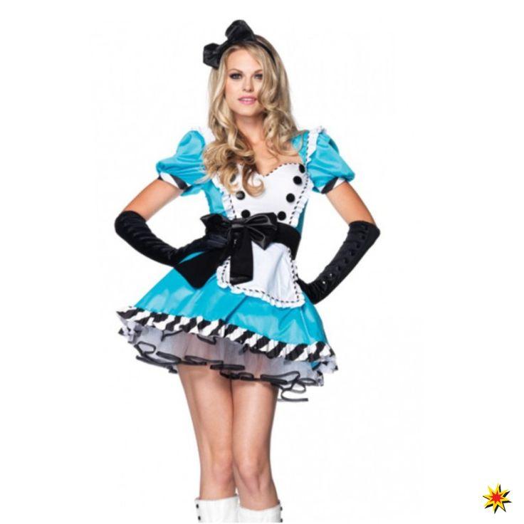 Kostm Alice Im Wunderland Fr Damen Kleid Hellblau