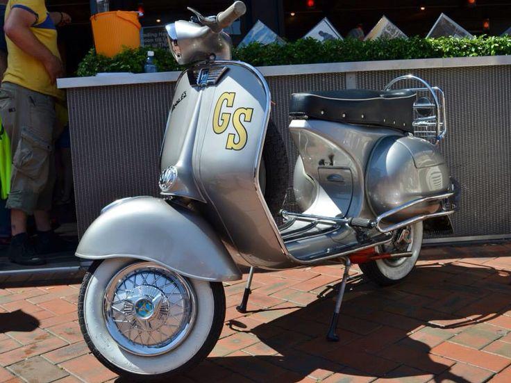 I love my GS. 1958 Vespa GS 150 VS5