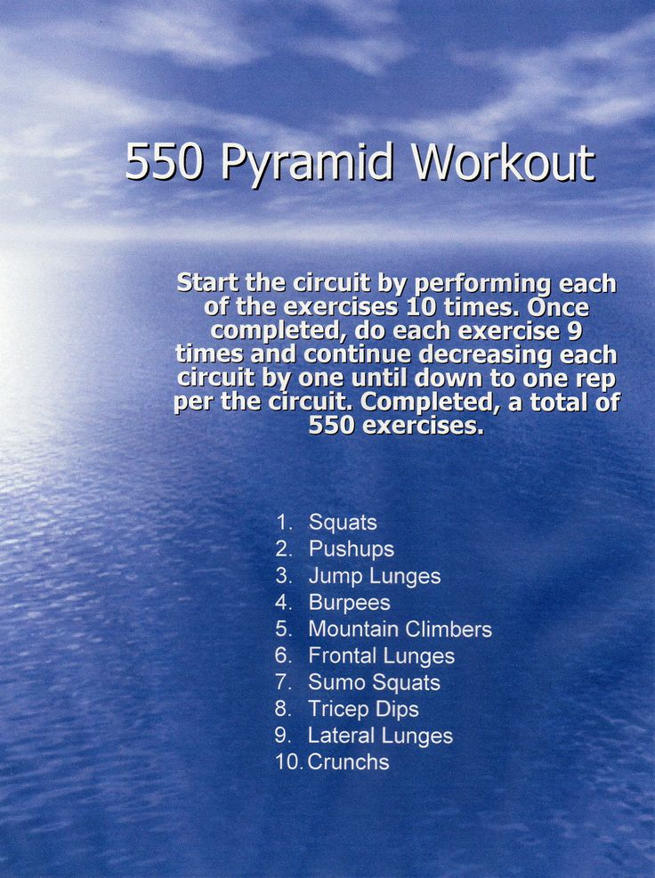 Today I did this pyramid workout. I must have been in a groove when I got to the 7th curcuit because I actually did 10 crunches. LOL