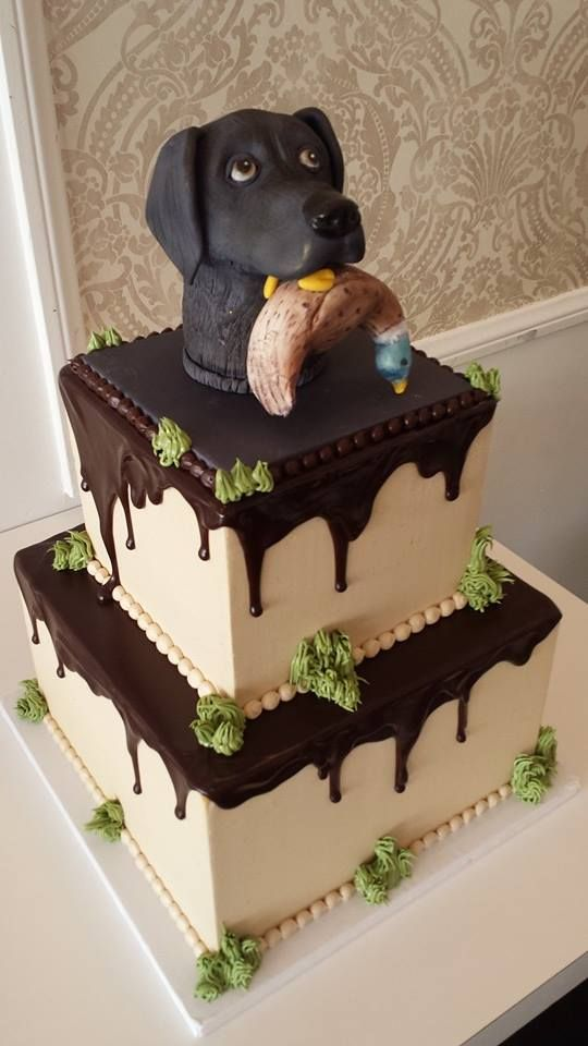 Do you have a favorite pet?.. check out this birthday cake with yummy chocolate glaze by Vanilla Bake Shop