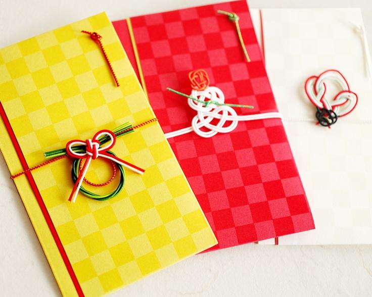 包む。結ぶ。日本人の美意識だと思います。    スタイリッシュミニ金封 (お正月)