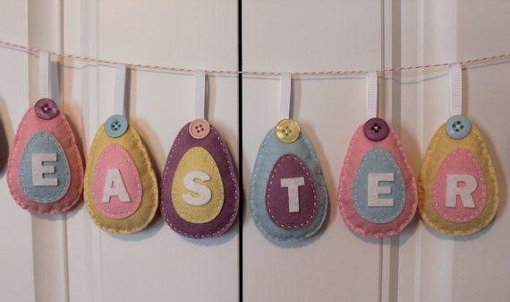SALE DIY Felt Easter Egg Ornament Kit by PolkaDotCreek on Etsy, $18.00