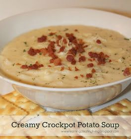 Learning, Creating, Living.: Creamy Crockpot Potato Soup