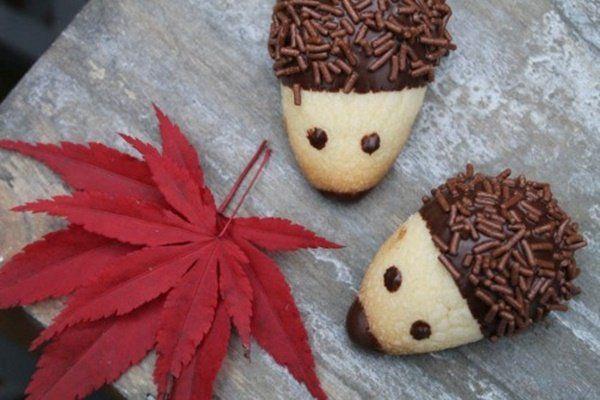 Receta Galletas de Chocolate de Erizo Caseras