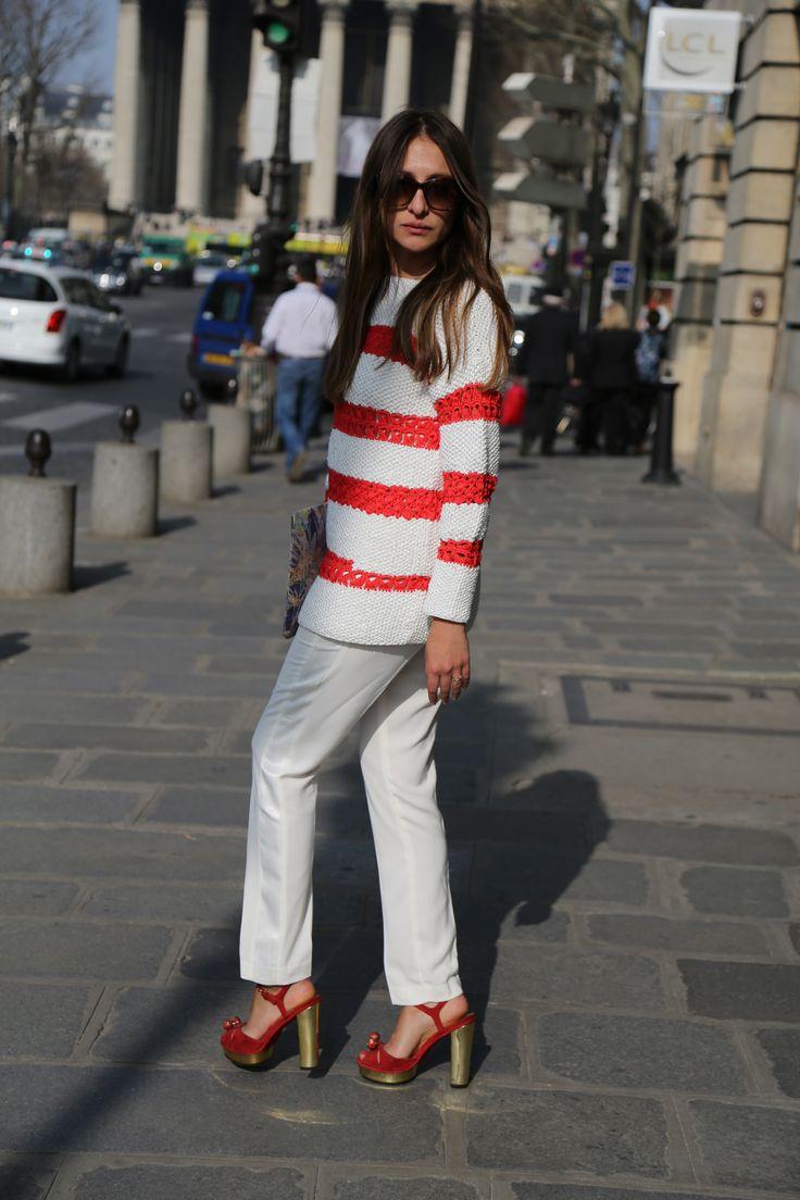 Stella Pardo Spring sweater. #Knit #Crochet #spring #ootd #spring #paris