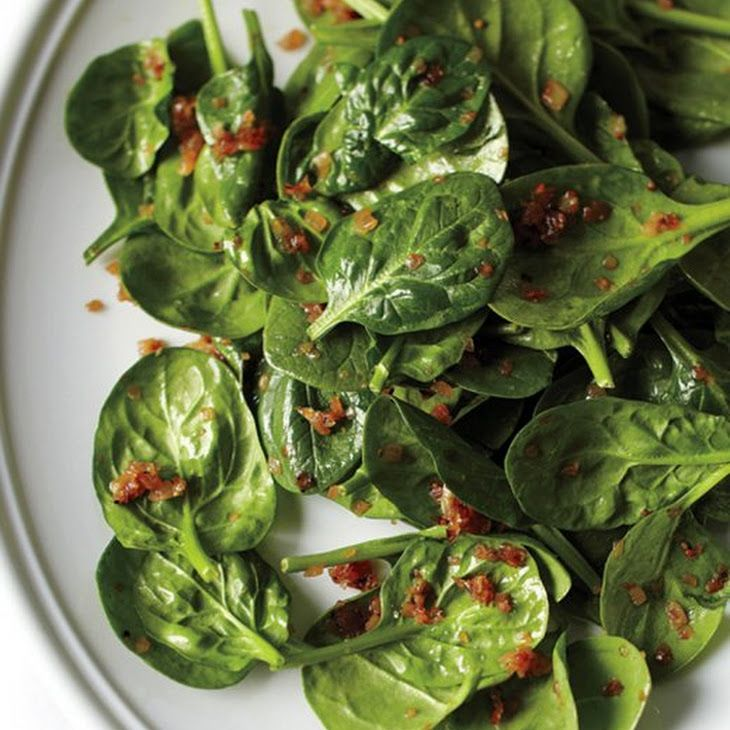 Wilted Spinach Salad with Caramelized Shallots Recipe Salads with extra-virgin olive oil, shallots, coarse salt, ground pepper, water, whole grain mustard, red wine vinegar, baby spinach, vinegar