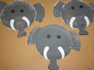 letter E - elephant craft