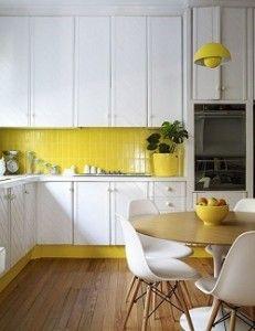 pintar una cocina amarillo