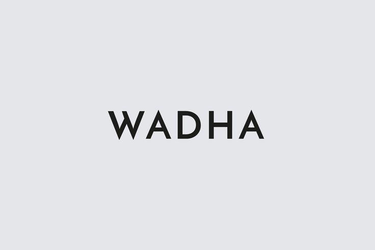 Logotype for Doha based women's fashion brand Wadha by Two Times Elliott, United Kingdom