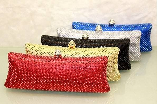 Mostyle!new wedding bag Rhinestone evening bag womens leather handbags sexy clutch bag 22X5X9 A0024 free shipping