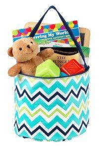 Easter Basket Girlfriend Chevron Fashion Print Fabric Bucket Tote Storage Easter Basket