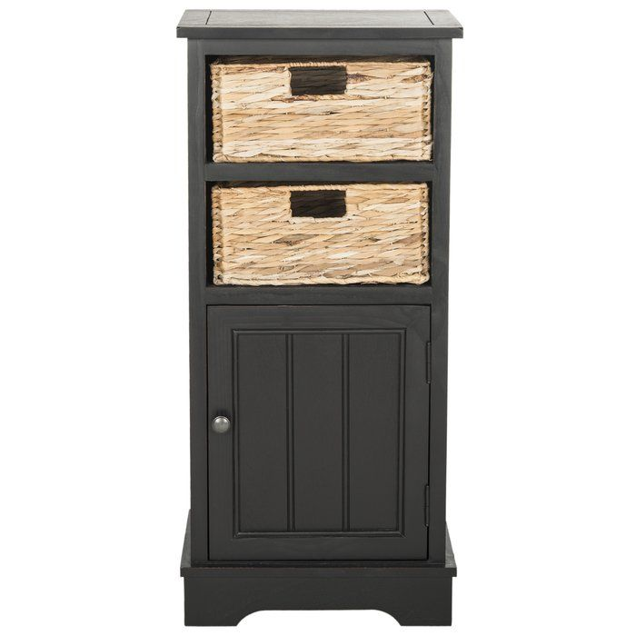 Santa Cruz 1 Door Accent Cabinet Storage Cabinet With Baskets