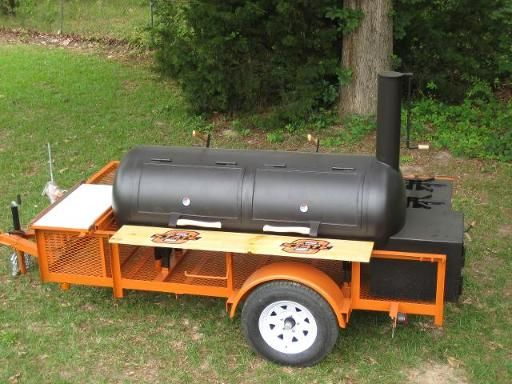 www.bbqlikeaboss.com Cowboy cooker BBQ Pits, Custom Smokers, & Barbecue Trailers