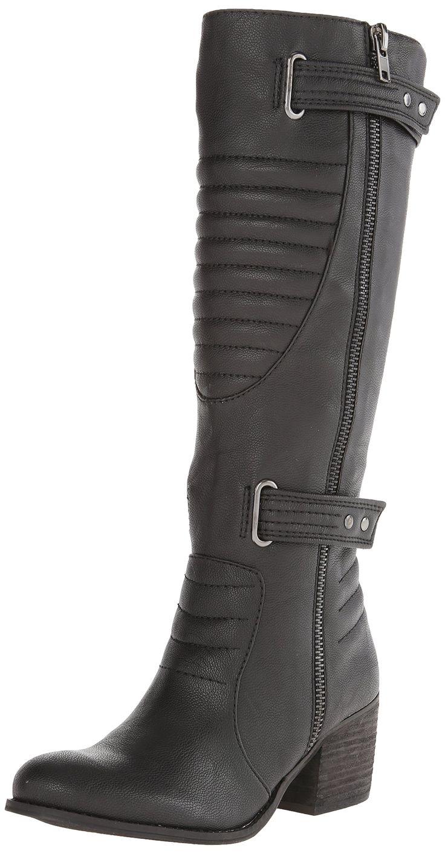 Carlos by Carlos Santana Women's Vesta Motorcycle Boot,Black,6 M US