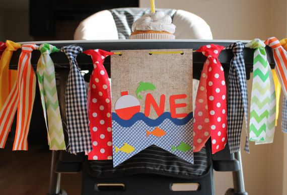 Camping Banner, Fishing Highchair Birthday Banner, Lumber Jack Birthday Banner, Fishing Birthday Party, Woodland Birthday Party, Hunting