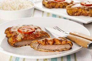 Bife de contrafilé àparmegiana por Academia da carne Friboi