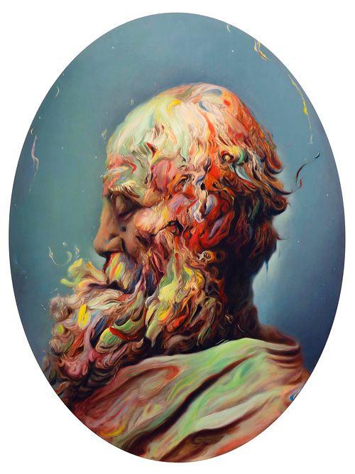 Brown subverteu a pintura clássica e colocou a sua assinatura: as pinceladas que se enlaçam, e que derretem.