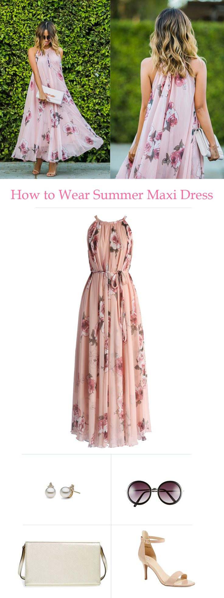 How to wear a summer maxi dress  chicwish com Light  flowy and pretty swing dress   laceandlocks
