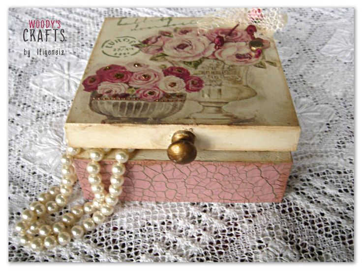 Handmade wooden jewelry box | Decoupage Art | Woody's Crafts by Ifigeneia