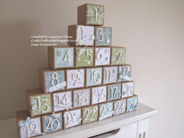 Crafty Ink Buds: Countdown to Christmas #1 Advent Treat Box Stack
