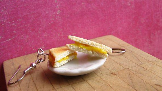 Gooey Grilled Cheese Sandwich Earrings