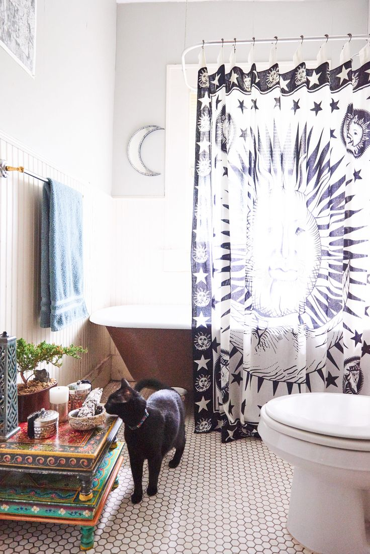 Celestial Shower Curtain. #showercurtain #homedecor #EBhome #earthboundtrading