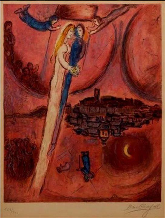 Marc Chagall, Il Cantico dei cantici, 1975.