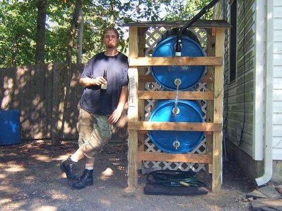 Build a Rain Water Collector System with 55 Gallon Plastic Barrels