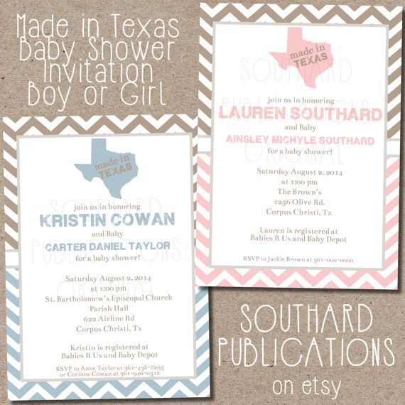 Made in Texas Baby Shower Invitation by SouthardPublications, $12.00