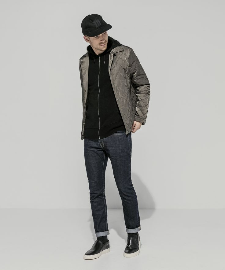 Ebbets Field x W Baseball Cap (Black) Waterproof Taffeta Twill Quilted Coach Jacket (Olive) Cashmere Merino Fully Fashioned Zip Front Hoodie (Black) 13oz Indigo Stretch Dark Whisker Cigarette Leg (Dark Indigo)