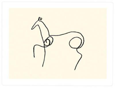 La cheval (Serigrafi), Pablo Picasso Tavlor & Posters från Easyart.se