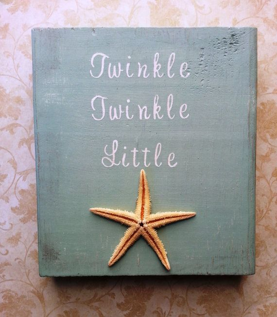 Twinkle Twinkle Little Starfish Nautical Nursery Decor on Etsy @Chantel Waterbury Waterbury Luebbers did you still want this? Obviously a diff color